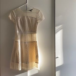 Cream Lace Banana Republic Dress